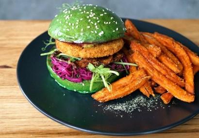 Fitzroy vs St Kilda in the battle of the vegan burger